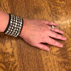 Guess Jewelry - Guess leather studded cuff